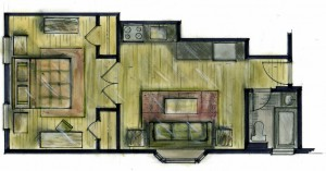Proposed Renovation, floor plan