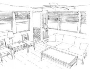 Conceptual Sketch, Out-In Kitchen