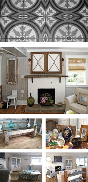Details make a space personal. OUTinDesign properties are known for their original details and unique personalized features. Many are gathered through travel or rummaging through antique stores, but most are simple creations born of imagination. Others are locally-inspired or rooted in the history where a property resides. All make the space personal and they relate to the owner be it by emotion, interest or history.
