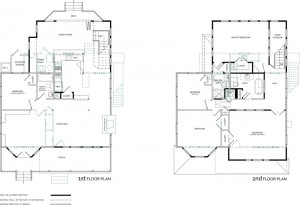 Floor Plans, Before + After Superimposed
